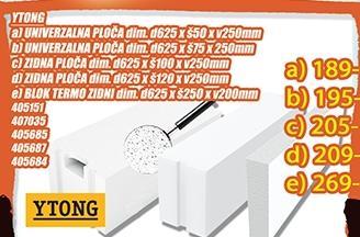 Ytong blok termo zidni 625x250x200mm