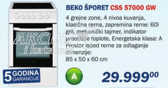 Šporet Css 57000 gw