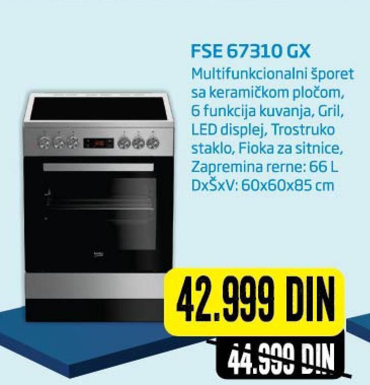 Šporet FSE 67310 GX