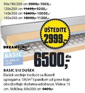 Dušek Basic S10 80x200cm
