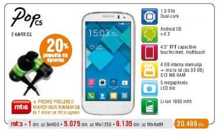 Mobilni telefon Onetouch Pop C5