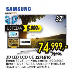 Televizor 3D LED LCD UE-32F6510