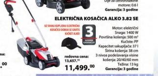 Električna kosačica za travu 1400W Classic 3.82 SE