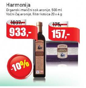 Harmonija organski matični sok aronije
