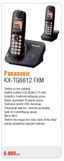 Telefon KX-TG6612 FXM