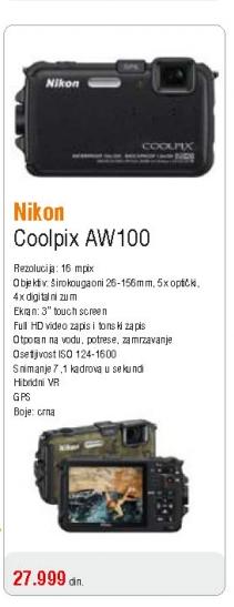 Fotoaparat Coolpix AW100