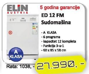 Sudomašina Ed 12 Fm