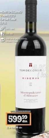Crno vino Montepilciano D'Abruzzo