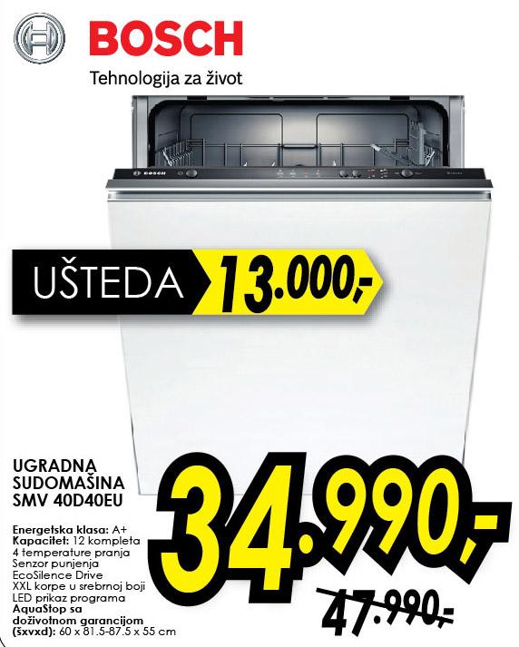 Ugradna Mašina Za Pranje Sudova SMV 40D40EU