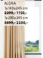 Zavesa Aldra 1x140x245cm