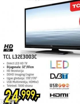"""Televizor LED 32"""" TCL L32e3003c"""