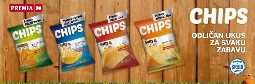 Chips odličan ukus za svaku zabavu