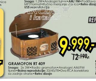 Gramofon RT 409