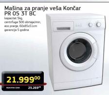 Mašinaza pranje veša PR 05 3T BC