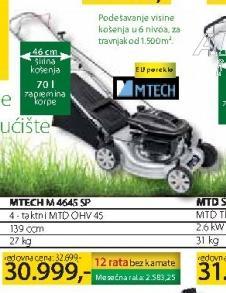 Motorna kosačica MTECH M 4645 SP