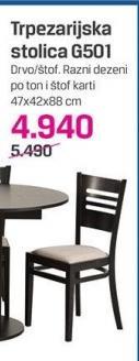 Trpezarijska stolica G501