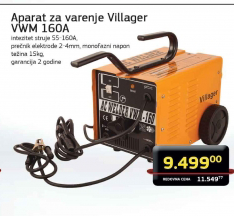 aparat za varenje VWM 160A