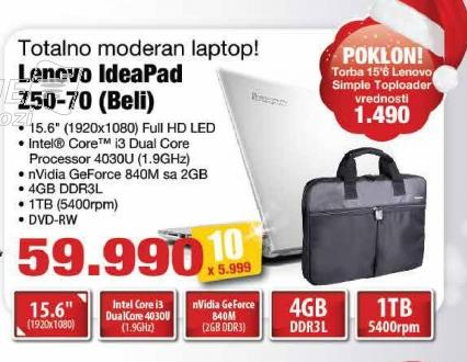 Laptop IdeaPad Z50-75 Beli