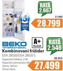 Kombinovani frižider DSA 28020 S