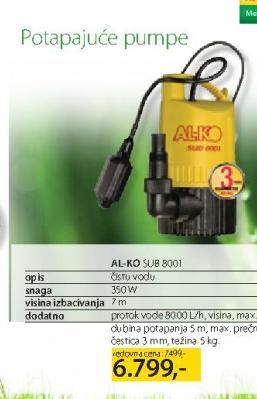 Potapajuća Pumpa SUB8001