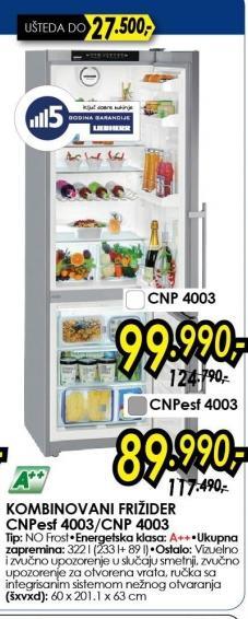 Kombinovani Frižider CNP4003