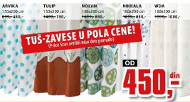 Tuš zavesa Nikkala