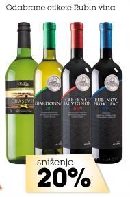 Odabrane etikete Rubin vina