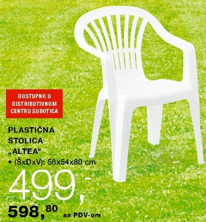 Plastična stolica Altea