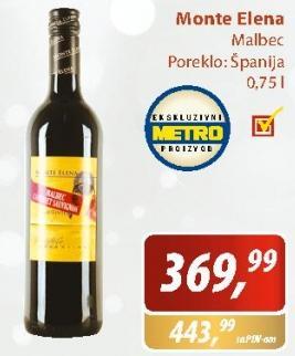 Crno vino Monte Elena