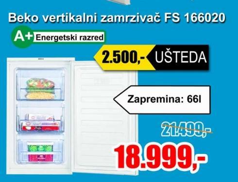 Vertikalni zamrzivač FS 166020