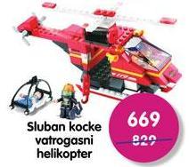 Igračka kocke Vatrogasni helikopter
