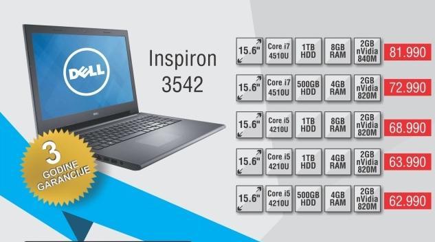Laptop Inspiron 3542