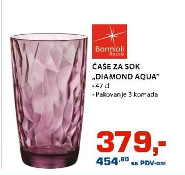 Čaša Diamond Aqua