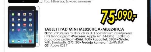 Tablet iPad Mini ME820HC/A