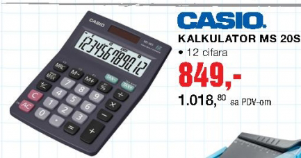 Kalkulator Ms 20S, CASIO
