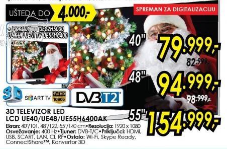 """Televizor LED 40"""" 3D Ue40h6400ak"""