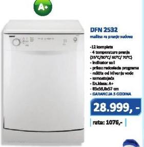 Mašina za pranje posuđa Dfn 2532