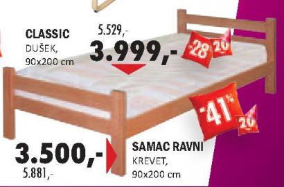 Krevet Samac ravni 90x200