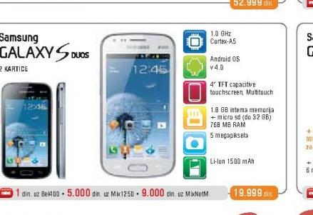 Mobilni Telefon  GalaxyS Duos S7562