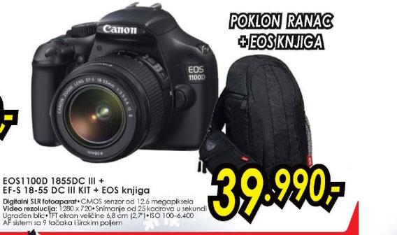 Digitalni SLR fotoaparat EOS 1100D + objektiv 18-55DC