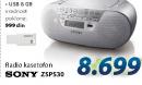 Prenosni radio SONY ZSPS30 + Poklon USB 8Gb