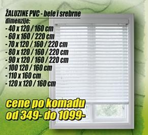 Žaluzine PVC 120x120/160