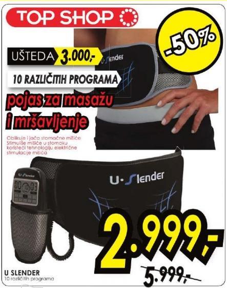 Pojas za masažu i mršavljenje U Slender