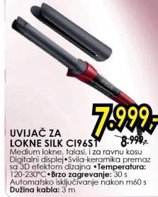 Uvijač za lokne Silk CI96S1
