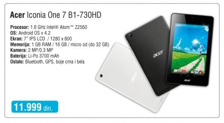 Tablet Iconia One 7 B1-730Hd