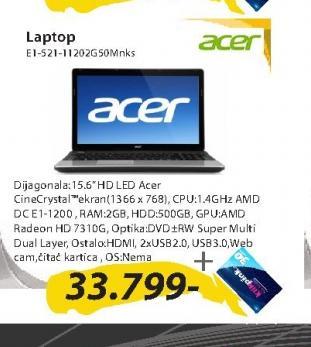 Laptop Aspire E1-521-11202G50Mnks