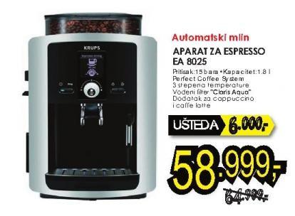 Aparat za espresso Ea 8025 Krups