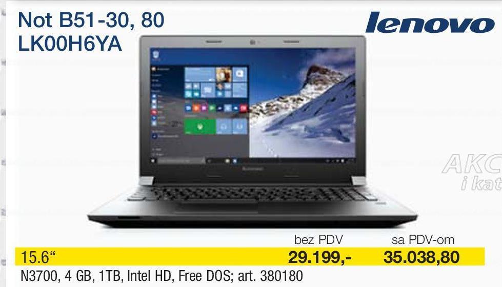 Laptop  B51-30, 80 LK00H6YA