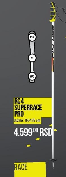 Štapovi za skijanje RC4 Superraec Pro, Fisher