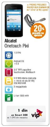 Mobilni telefon Onetouch Pixi